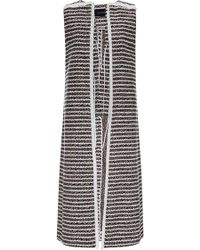 Thakoon Summer Tropic Tweed Long Vest - Lyst