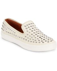 Rebecca Minkoff Kory Too Studded Sneakersnatural - Lyst