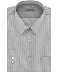 Calvin Klein Slim Fit Grid Dress Shirt - Lyst