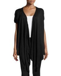 Donna Karan New York Draped-front Silk-cashmere Cozy - Lyst