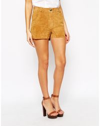 Warehouse - Suede Shorts - Lyst
