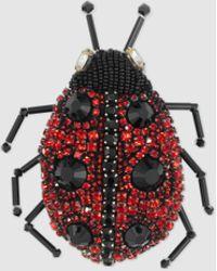 Gucci | Lady Bug Crystal-embellished Brooch | Lyst