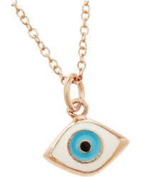 Iam By Ileana Makri - Rose Goldplated Enamel Eye Necklace - Lyst