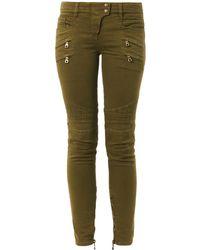 Balmain Motostyle Midrise Skinny Jeans - Lyst
