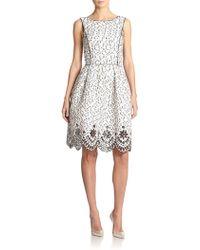 Oscar de la Renta Speckled Eyelash Tweed Dress - Lyst