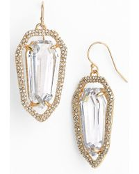 Alexis Bittar 'Miss Havisham' Crystal Encrusted Shield Earrings - Lyst