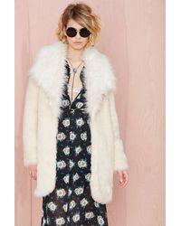 Nasty Gal Tina Faux Fur Coat - Lyst