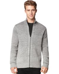 Calvin Klein Jeans Ribbed Ombre Cardigan - Lyst