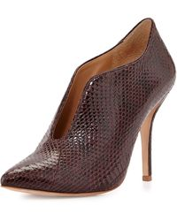 Vc Signature Carolina Open-Front Snake Bootie - Lyst