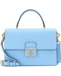 Dolce & Gabbana Rosalia Leather Shoulder Bag blue - Lyst