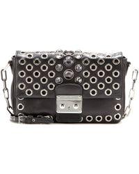 Miu Miu Embellished Leather Shoulder Bag - Lyst