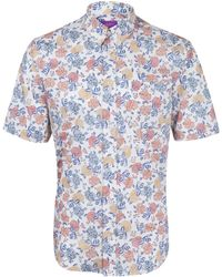Liberty - White Freya Short Sleeve Cotton Shirt - Lyst