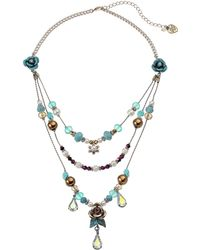 Betsey Johnson Patina Illusion Necklace - Lyst