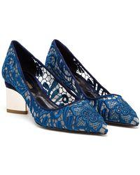 Nicholas Kirkwood Lace Embroidered Block Heel Pumps - Lyst