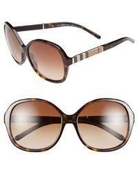 Burberry 58Mm Sunglasses - Havana - Lyst
