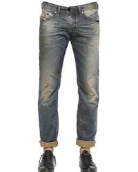 Diesel 18cm Belther Washed Cotton Denim Jeans - Lyst