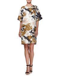 Rag & Bone Chester Camouflage Short-Sleeve Dress - Lyst