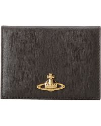 Vivienne Westwood Saffiano Flip Card Holder with Id Window - Lyst
