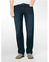 Calvin Klein Jeans Straight Leg Osaka Blue Wash Jeans - Lyst