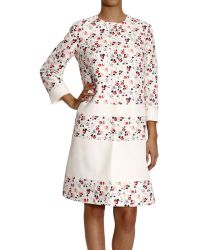 Dior Coat Cotton and Silk Flowers Print - Lyst
