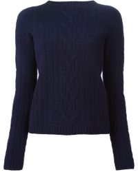 The Row 'Felicity' Cable Knit Sweater - Lyst