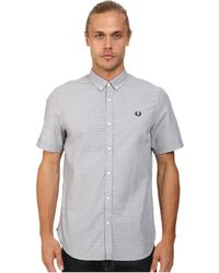 Fred Perry Polka Dot Shirt - Lyst
