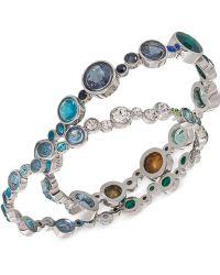 Carolee - Silver-Tone Multicolor Bubble Bracelet Set - Lyst