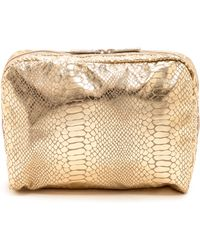 LeSportsac - Extra Large Cosmetic Case - Gold Foil Snake - Lyst