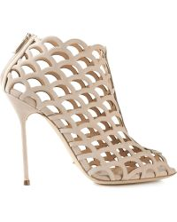 Sergio Rossi Cut-Out Sandals - Lyst