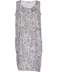 Jil Sander Short Dress white - Lyst