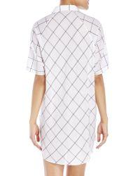D'deMOO - Windowpane Woven Shirtdress - Lyst