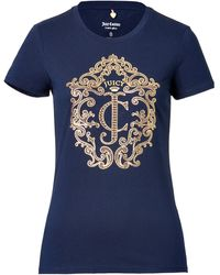Juicy Couture Jc Gold Stud T-shirt - Lyst