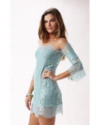 For Love And Lemons Belle Mini Dress - Lyst