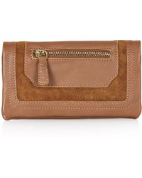Topshop Womens Suede and Leather Wallet - Chestnut - Lyst