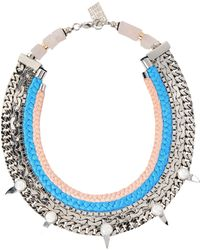 Lizzie Fortunato Excess And Elegance Necklace blue - Lyst