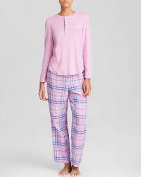 Lauren by Ralph Lauren New Castle Flannel Pajama Set - Lyst