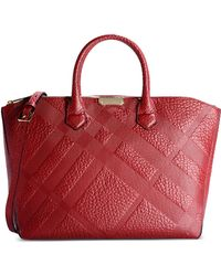 Burberry London Large Leather Bag - Lyst