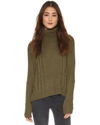 Faithfull The Brand - Storyteller Knit Sweater - Khaki - Lyst