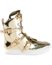 Versace Medusa Hi-top Sneakers - Lyst