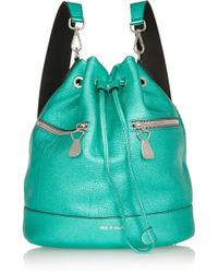 House of Holland - The Bucket Metallic Texturedleather Backpack - Lyst
