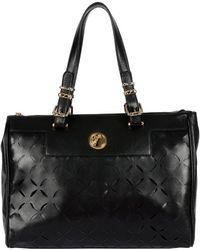 Versace Laser Cut Tote Handbag - Lyst