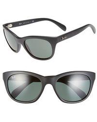 Ray-Ban Women'S 'Highstreet' 56Mm Sunglasses - Matte Black - Lyst