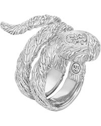John Hardy Classic Chain Twisted Coil Ring - Lyst
