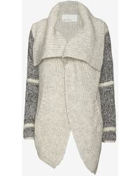 Yigal Azrouel Mixed Knit Asymmetric Cardi - Lyst