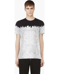 Kris Van Assche - Black and White Croc Print T_shirt - Lyst