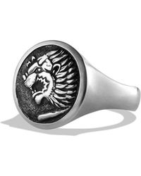 David Yurman Petrvs Lion Signet Ring - Lyst