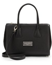 Valentino Leather & Suede Paneled Tote - Lyst
