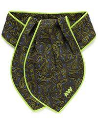 Alexander Wang | Paisley Print Pleat Silk Ascot Tie | Lyst
