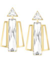 Swarovski Brancusi Gold-tone Drop Earrings - Lyst