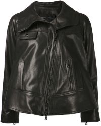 Proenza Schouler Cropped Leather Jacket - Lyst